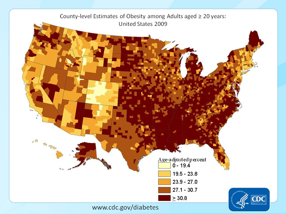 US Obesity Statistics - County level data