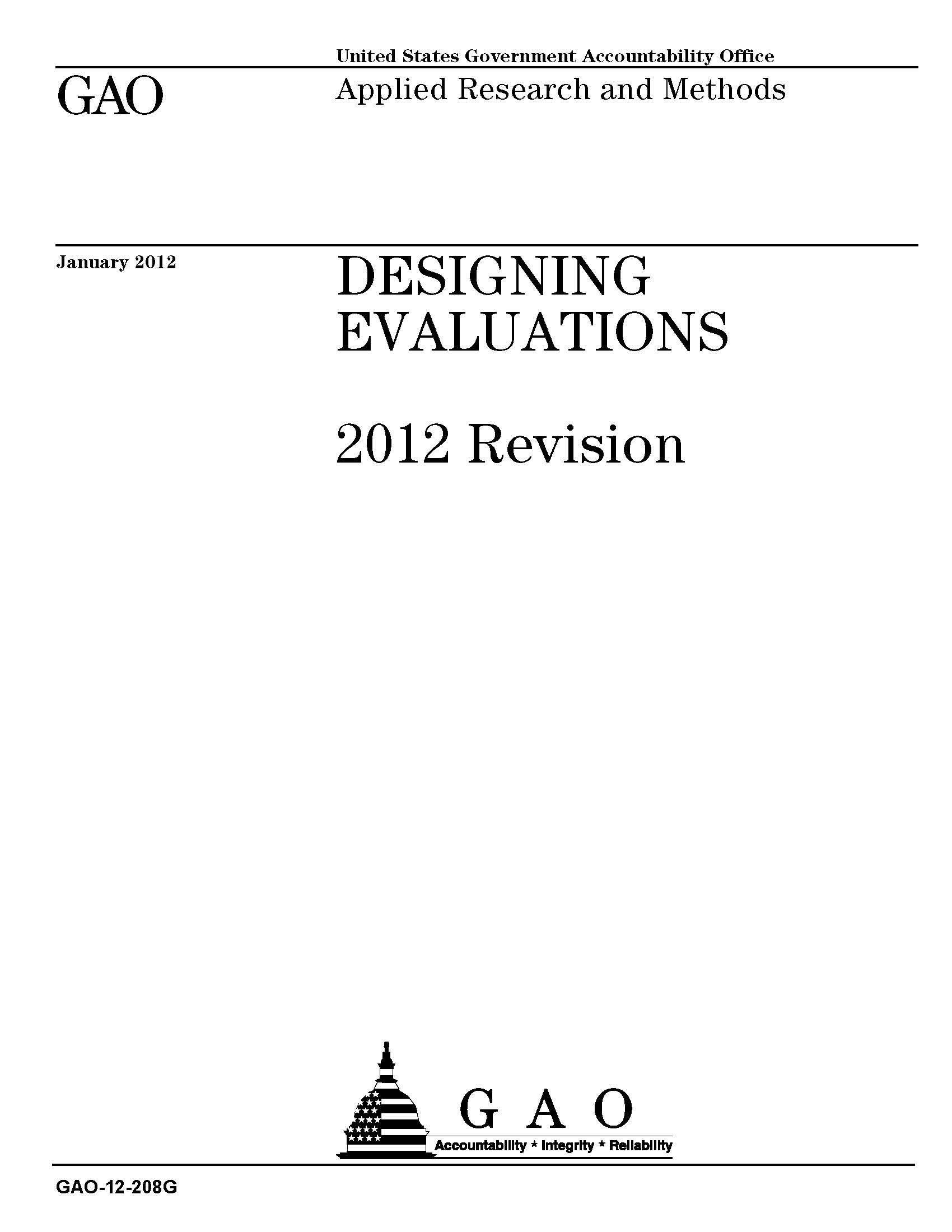 GAO's Designing Evaluation