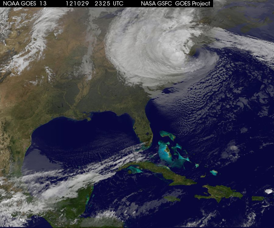 Hurricane Sandy NASA