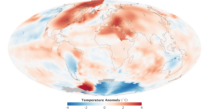NASA Hottest July 2012