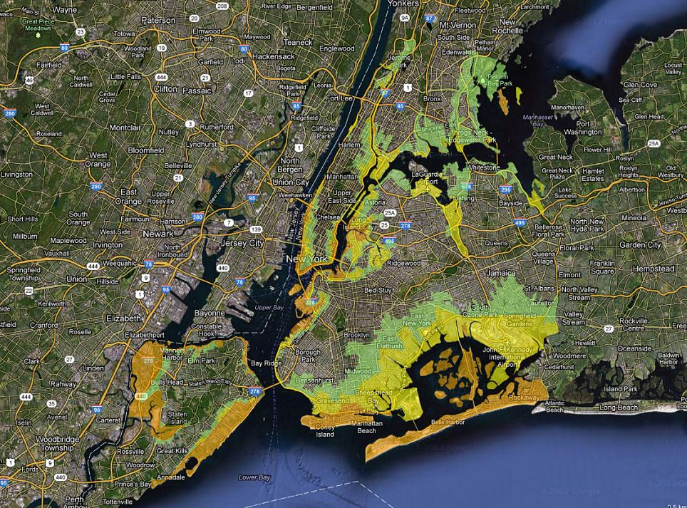 NYC flood map