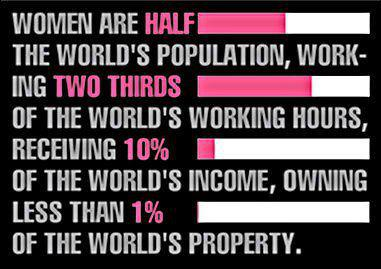 1/2 the world are women!