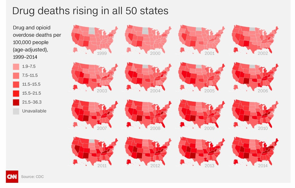 Drug Deaths, by state