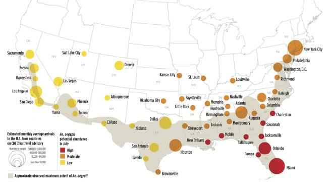 US cities at risk
