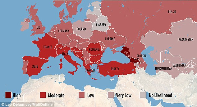 Potential Europe Zika Spread