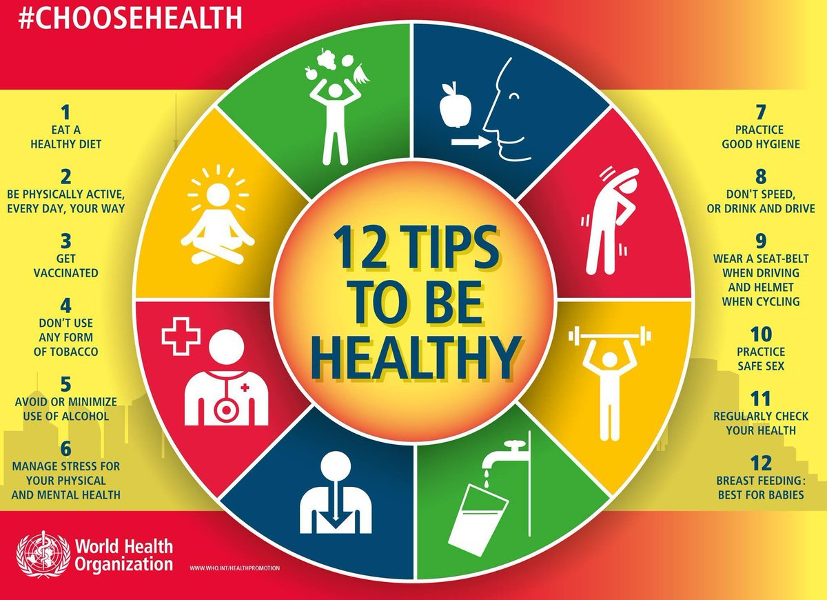 WHO 12 tips to be healthy