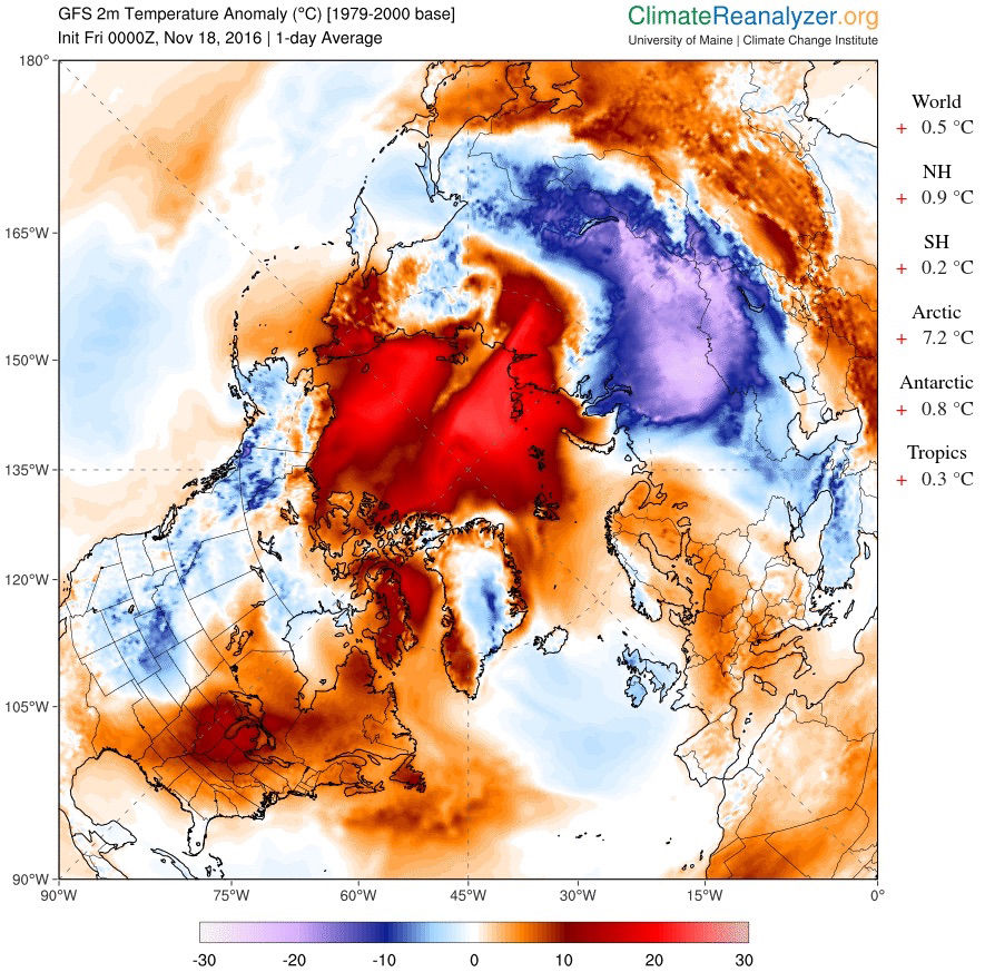 Arctic Climate Map