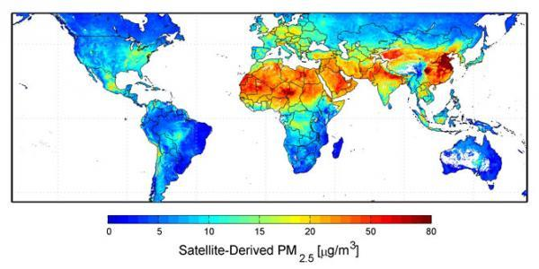 Global Air Pollution Map, 2010