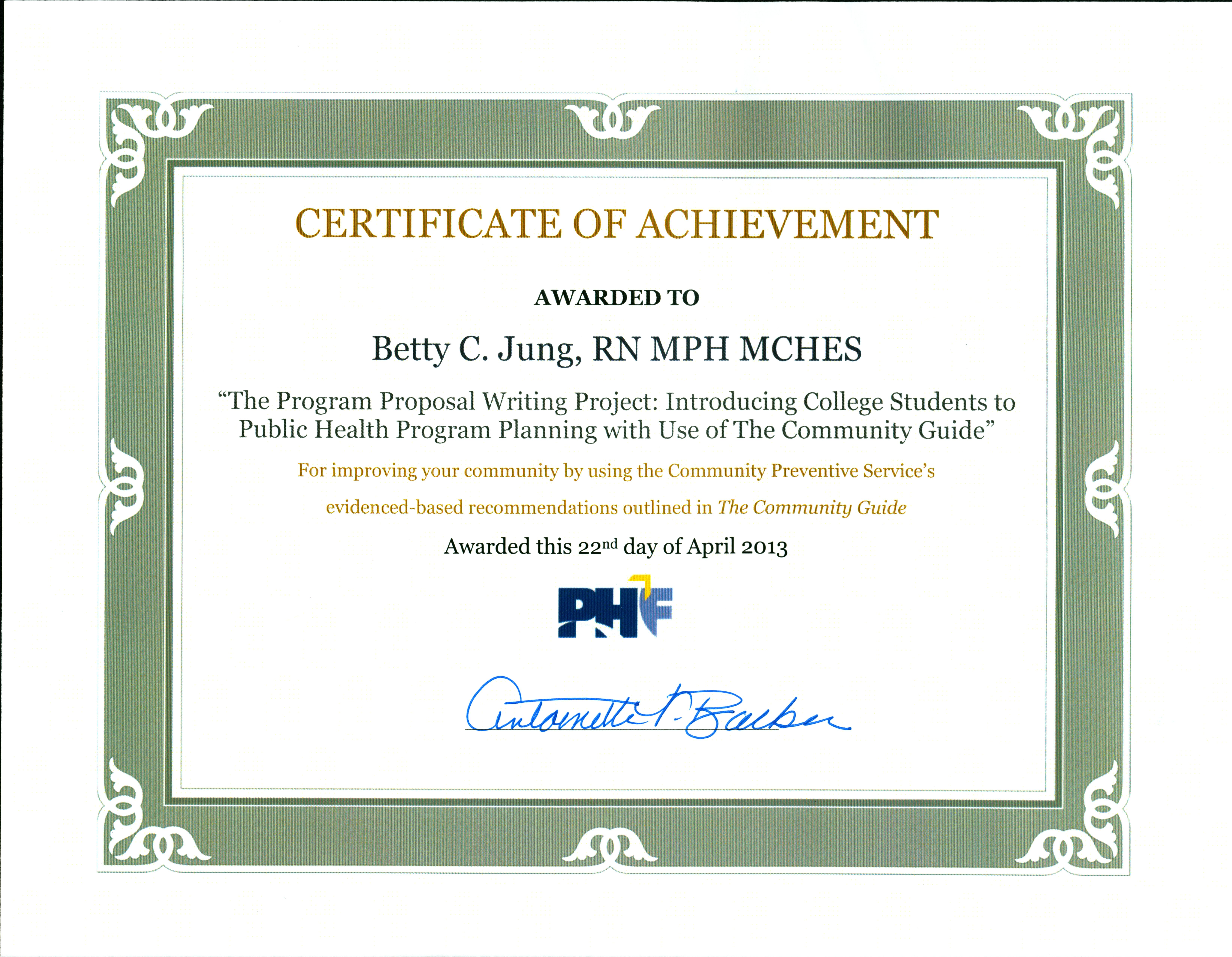 Public Health Program Development Toolkit Developed By Betty C Jung